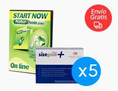 Sizegain Plus x4 + Sizegain Plus x1 gratis + Naturpenis Gratis